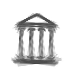 Historical building gray vector
