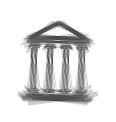 Historical building gray vector
