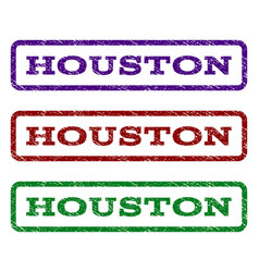 Houston watermark stamp vector