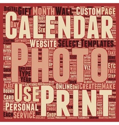 How To Personalize Your Photo Calanders Part 1 vector image