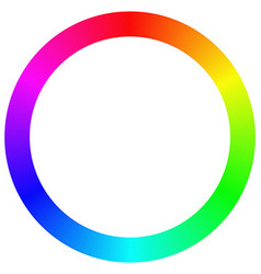 Isolated gradient rainbow ring color palette vector