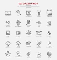 Line icons set 2 seo develop vector