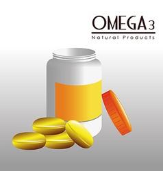 Omega 3 design vector