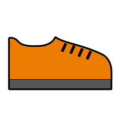 orange shoe cartoon vector image vector image