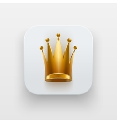 Queen icon symbol of crown on light backdrop vector