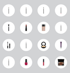realistic concealer multicolored palette eye vector image vector image