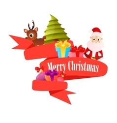 Red ribbon Christmas vector image