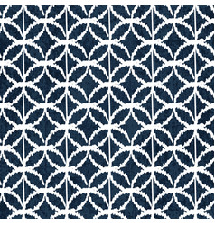 Sashiko indigo dye pattern with traditional vector