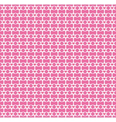 Seamless love pattern pink hearts and stars vector
