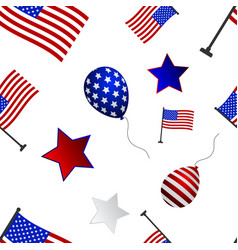 seamless pattern to the day of independence of the vector image