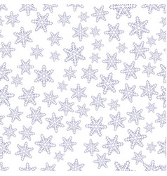 Seamless snowflakes pattern vector
