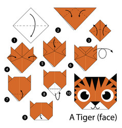 step by step instructions how to make origami vector image vector image