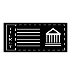 Ticket to museum icon simple style vector image