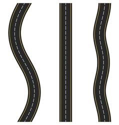 Vertcal Seamless Roads vector image