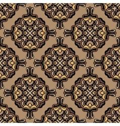 Vintage damask floral pattern vector