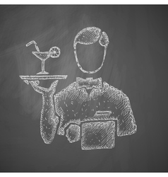 waiter icon vector image vector image