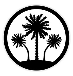 Palm button on white vector