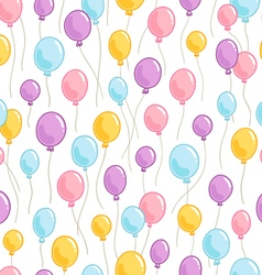 Colorful balloons pattern vector