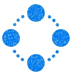 Circular relations grainy texture icon vector