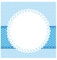 blue background with with round symbol icon vector image