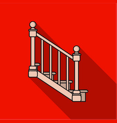 stairs icon in flat style isolated on white vector image