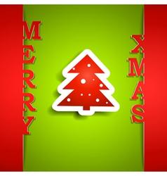 Merry Xmas paper card vector image