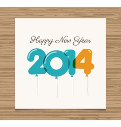 Happy new year card 2014 vector