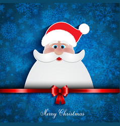 christmas santa background vector image