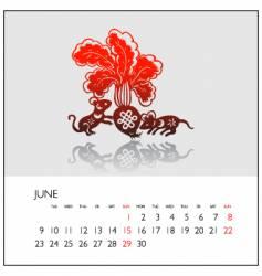 2008 calendar june vector