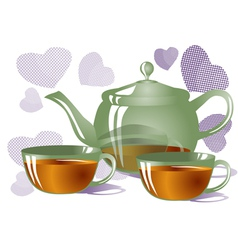 Tea for two vector