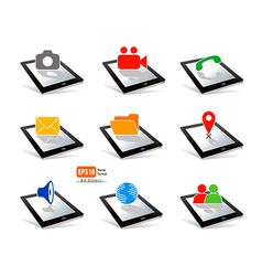 icon tablet pc touchpad display vector image