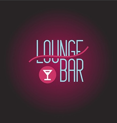 Lounge bar logo template vector