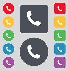 Phone support call center icon sign a set of 12 vector