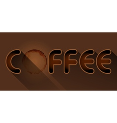 Coffee word with coffee stain vector