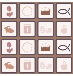 Seamless background with easter symbols vector