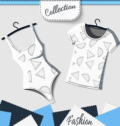 Designer shirts and t-shirts with the background vector