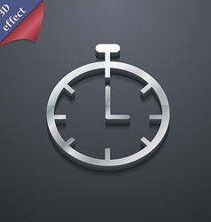 Stopwatch icon symbol 3d style trendy modern vector