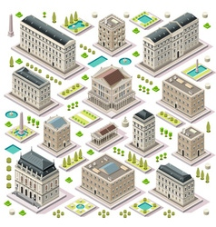 City map set 05 tiles isometric vector