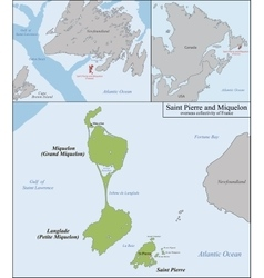 Saint pierre and miquelon map vector