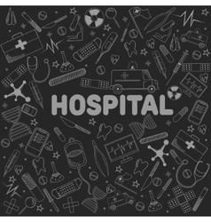Hospital line art design vector