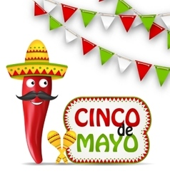Cinco de mayo holiday background vector