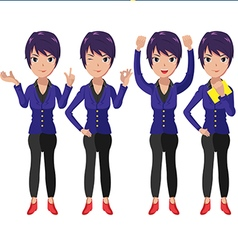 Present character cartoon woman worker vector