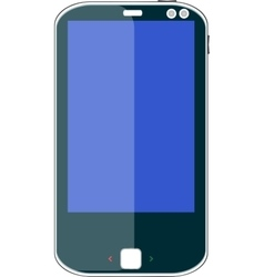Smart phone with blue screen vector