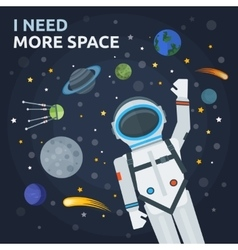 Space And Man Concept vector image