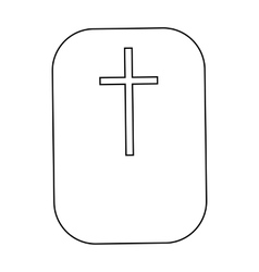 Cross christian faith symbol icon outline style vector