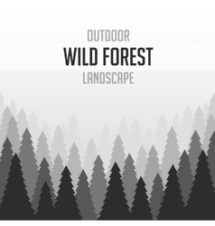 Wild coniferous forest background vector
