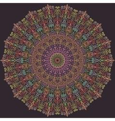 Blue and Pink Line Mandala vector image