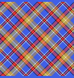 blue madras diagonal plaid pixeled seamless vector image vector image