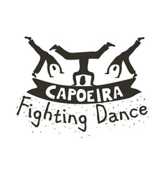 Capoeira fighting dance vector