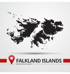 Falkland islands map vector image